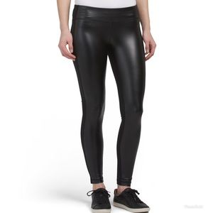 90 Degrees by Reflex Faux Leather Panel Leggings